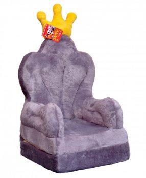 Plüss babafotel - szürke trón