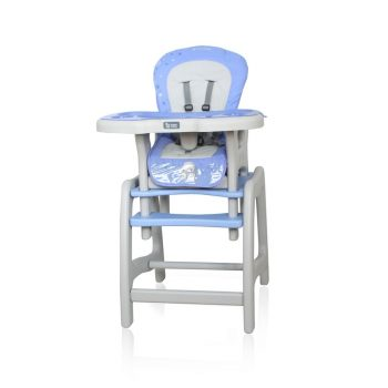 Etetőszék Coto Baby Stars asztallá + székké alakítható kék