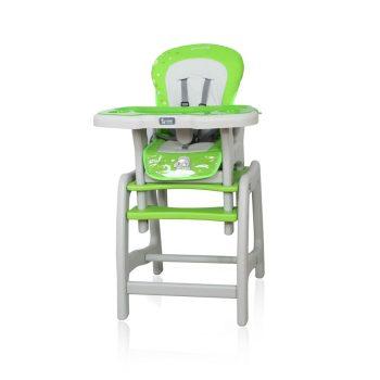 Etetőszék Coto Baby Stars asztallá + székké alakítható zöld