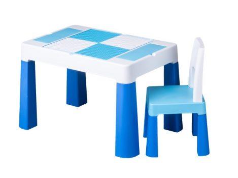 Tega Multifun asztal + 2 db szék szett kék