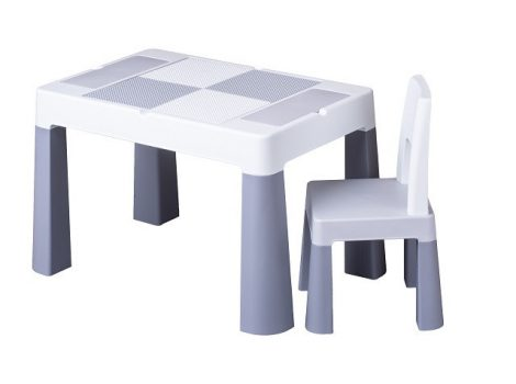 Tega Multifun asztal + 2 db szék szett szürke