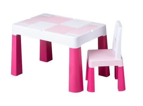 Tega Multifun asztal + 2 db szék szett rózsaszín