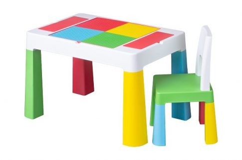 Tega Multifun asztal + 2 db szék szett színes