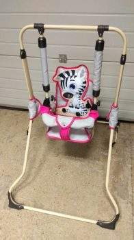 Babahinta állványos Zebra (fiús és lányos színben is! )